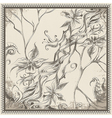 Frame with tropic flowers vector image