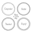 set of hand drawn style badges and elements Doodle vector image