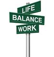 Signs Life Balance Work choices vector image