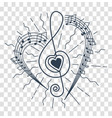 silhouette of musical representation vector image