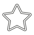 star favorite symbol isolated icon vector image