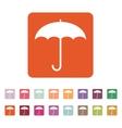 The umbrella icon Protection symbol Flat vector image