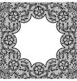 Vintage lace frame ornamental flowers texture vector image