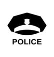 Police cap icon Servicemans hat symbol vector image
