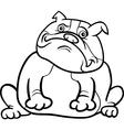 english bulldog dog cartoon for coloring book vector image vector image
