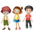 Smiling kids vector image