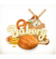 Bakery Bread 3d label vector image