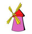 windmill icon cartoon vector image