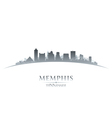 Memphis Tennessee city skyline silhouette vector image