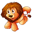 A lion in a jumping position vector image vector image
