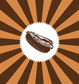 food and drink theme hot dog vector image