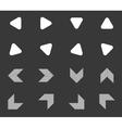 Arrow icon set 5 monochrome vector image