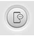 Phone Message Button Design vector image