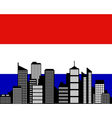 City and flag of the Netherlands vector image