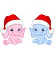 christmas baby elephants vector image