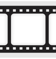 Old filmstrip Movie ending frame vector image