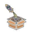 rocket icon design vector image