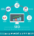 SEO infographic vector image