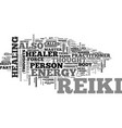 what is reiki text word cloud concept vector image