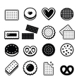 Biscuit cookie - food icons set vector image vector image
