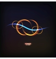 glowing symbol of infinity vector image