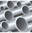 3D seamless steel pipes pattern vector image vector image