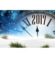 2017 year background with clock vector image