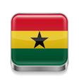 Metal icon of Ghana vector image