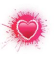 heart blot vector image