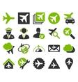 Aviation Icon Set vector image