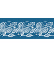 Abstract ribbon lace with flowers and butterflies vector image vector image