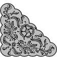 Vintage lace element ornamental flowers texture vector image vector image