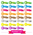 Colorful signs number vector image