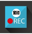 retro camera photographic rec button vector image