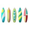 Surf boards designs surfboard coloring set vector image