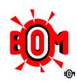 inscription boom vector image