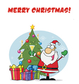 Santa cartoon vector image