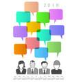 2018 creative people and speech bubble calendar vector image