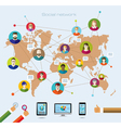 Social network and modern technology vector image vector image