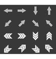 Arrow icon set 6 monochrome vector image
