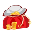 Sac with money vector image