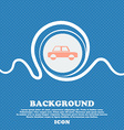 Car sign Blue and white abstract background vector image