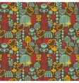 Beautiful seamless pattern with cute birds vector image
