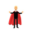business man standing with arms wide open male vector image