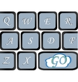 button on the computer keyboard which go write vector image