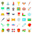 creativity icons set cartoon style vector image