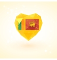 Flag of Sri Lanka in shape diamond glass heart vector image