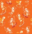 fun orange dancing and skateboarding vector image