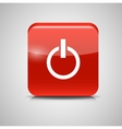 Glass Power Button Icon vector image