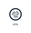 iota cryptocurrency icon title vector image